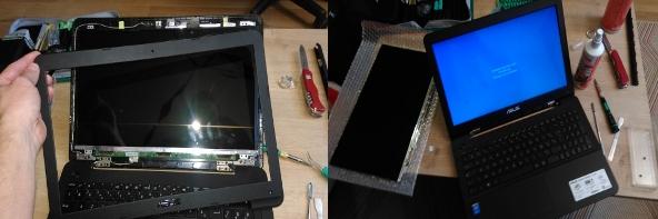 Réparation écran portable